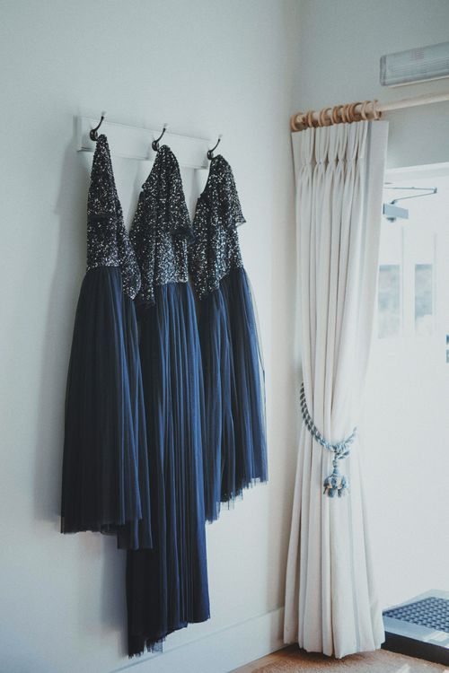 Navy Bridesmaid Dresses   Rustic Wedding at Farbridge West Sussex with Styling by Fairly Vintage   Meghan Lorna Photography