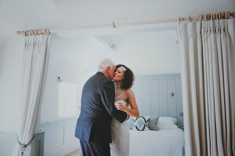 Father of The Bride   Bride in Sottero & Midgley Wedding Dress   Rustic Wedding at Farbridge West Sussex with Styling by Fairly Vintage   Meghan Lorna Photography