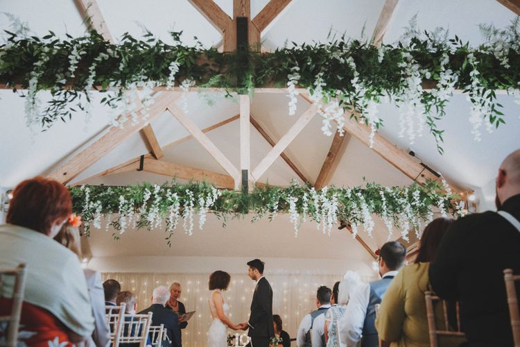 Wedding Ceremony   Sottero & Midgley Wedding Dress   Tailor Made Suit   Rustic Wedding at Farbridge West Sussex with Styling by Fairly Vintage   Meghan Lorna Photography