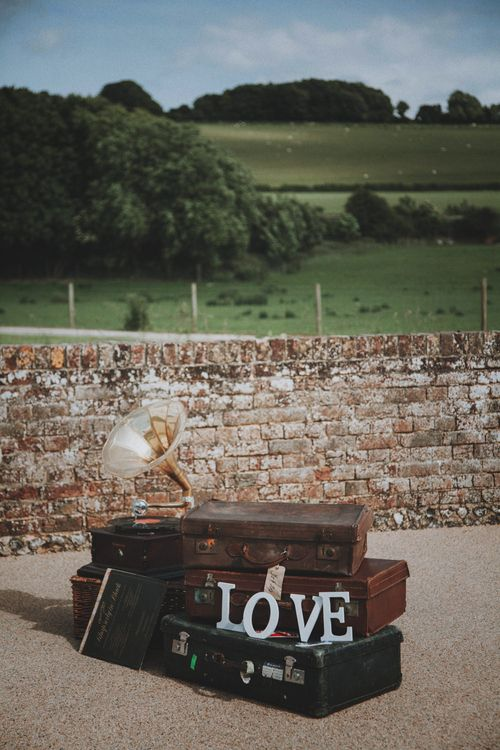 Vintage Wedding Decor   Rustic Wedding at Farbridge West Sussex with Styling by Fairly Vintage   Meghan Lorna Photography