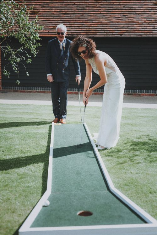 Grazy Golf Garden Game   Rustic Wedding at Farbridge West Sussex with Styling by Fairly Vintage   Meghan Lorna Photography