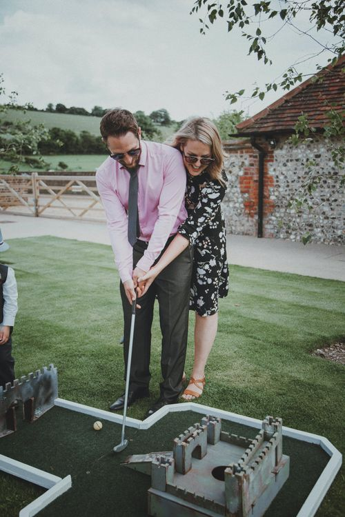 Crazy Gold Garden Game   Rustic Wedding at Farbridge West Sussex with Styling by Fairly Vintage   Meghan Lorna Photography
