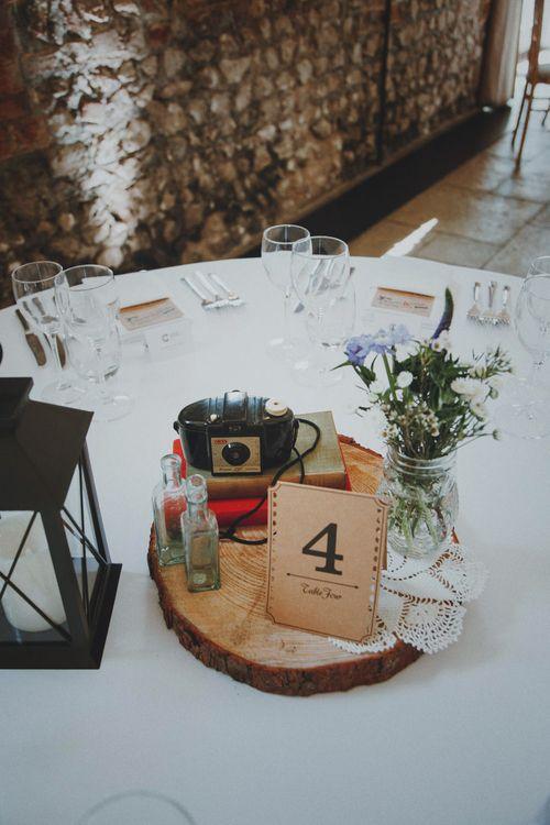 Tree Slice Wedding Centrepiece   v