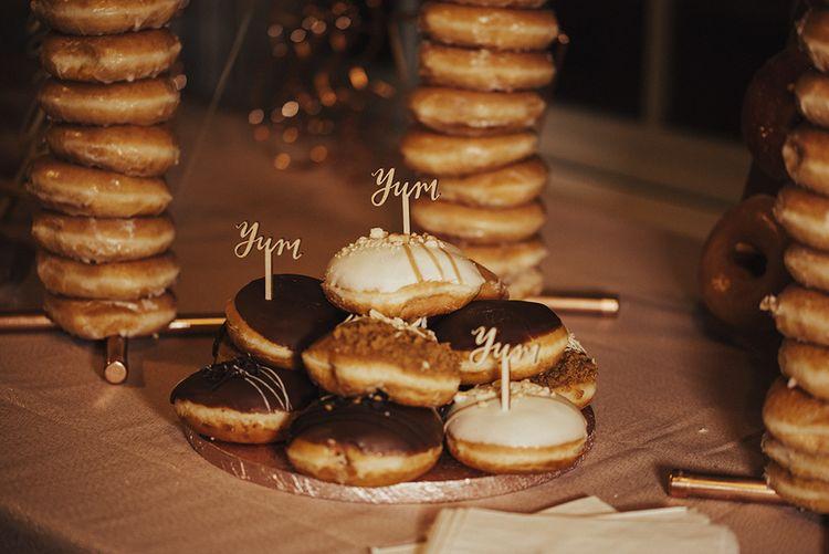 Doughnut Tower Wedding Cake Table