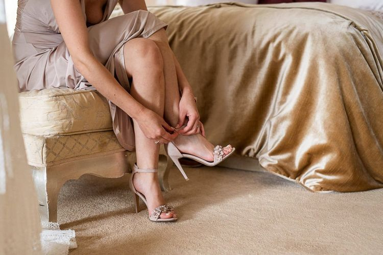 Heeled wedding shoes in nude