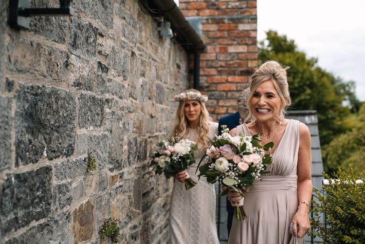 Bride makes her way to ceremony at Irish wedding venue