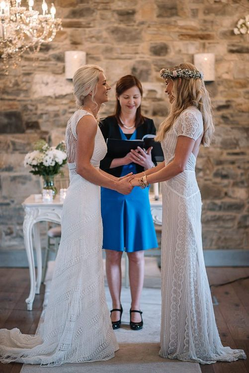 Brides exchange vows at Irish wedding ceremony