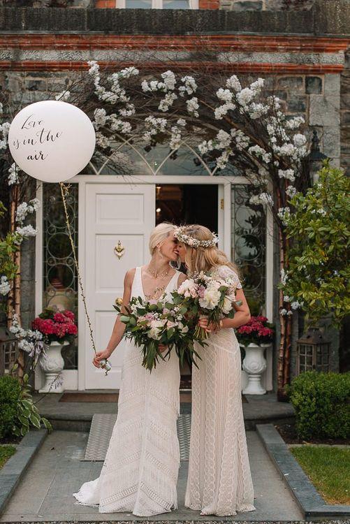 Wedding balloon at same-sex wedding