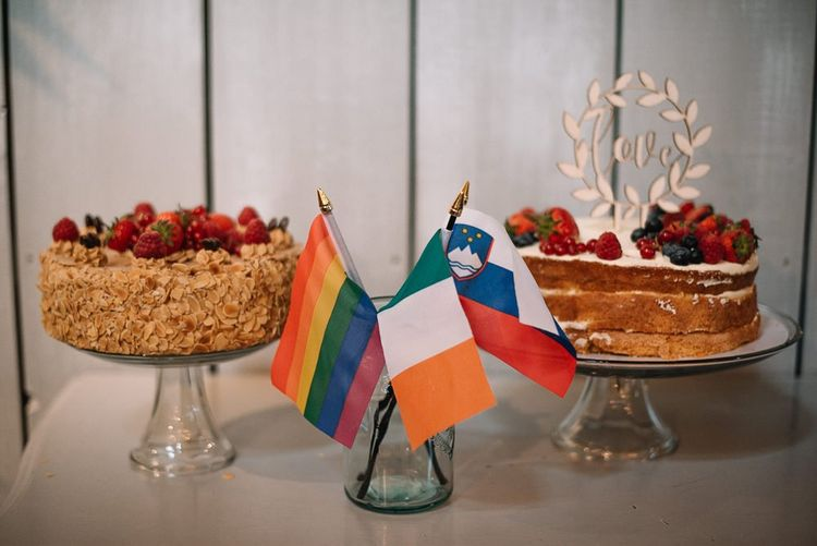 Wedding cake with flags in Ireland