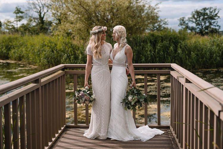 Same-sex wedding with Watters wedding dress in Ireland