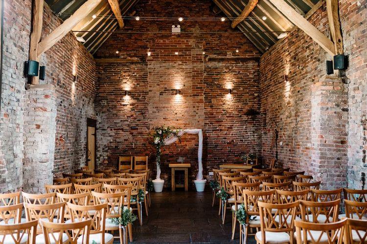 Aisle & Altar Decor | Intimate Greenery Wedding at Packington Moore Rustic Wedding Venue | Amy Faith Photography | Floodgate Films