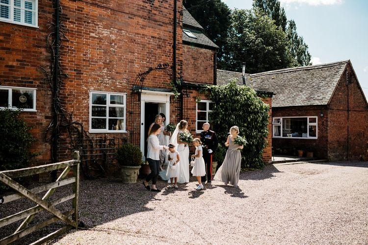 Wedding Morning Bridal Preparations | Intimate Greenery Wedding at Packington Moore Rustic Wedding Venue | Amy Faith Photography | Floodgate Films