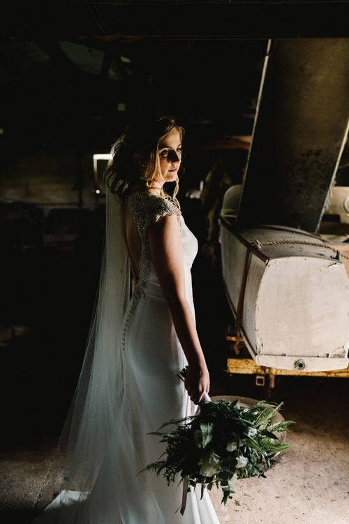 Bride in 'Milan' St Patrick Gown | Intimate Greenery Wedding at Packington Moore Rustic Wedding Venue | Amy Faith Photography | Floodgate Films
