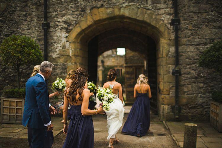 The Brides Journey.  Ceremony at Haddon Hall, Derbyshire