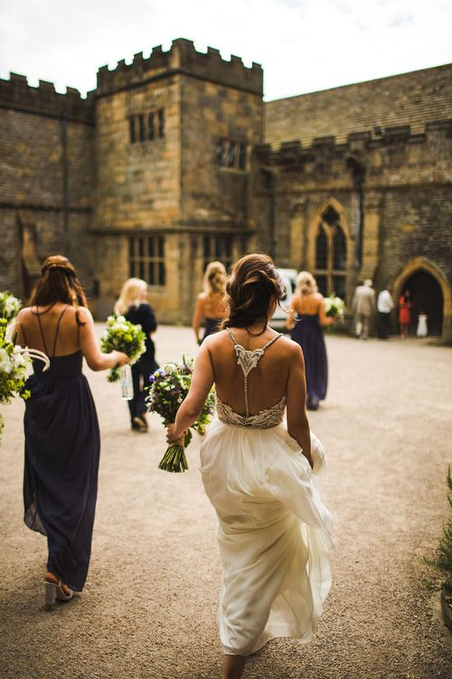 On the way. A Bank Holiday Extravaganza. Ceremony at Haddon Hall, Derbyshire
