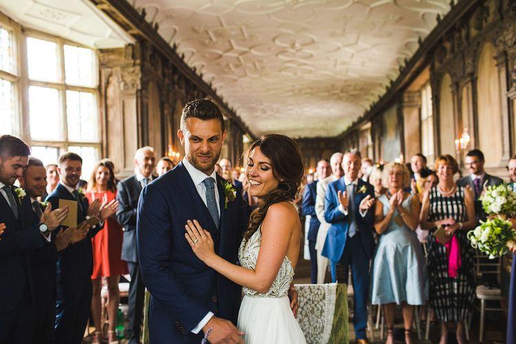 Vows. A Bank Holiday Extravaganza. Ceremony at Haddon Hall, Derbyshire