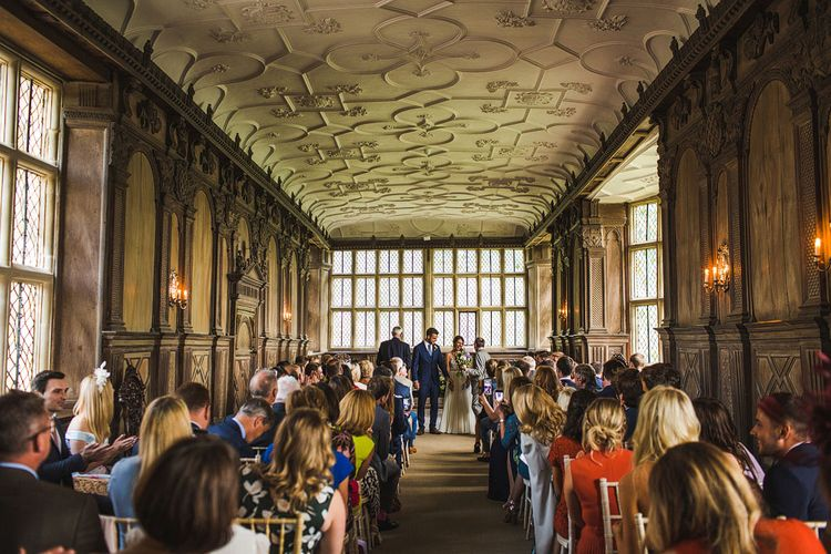 The Long Hall. A Bank Holiday Extravaganza. Ceremony at Haddon Hall, Derbyshire