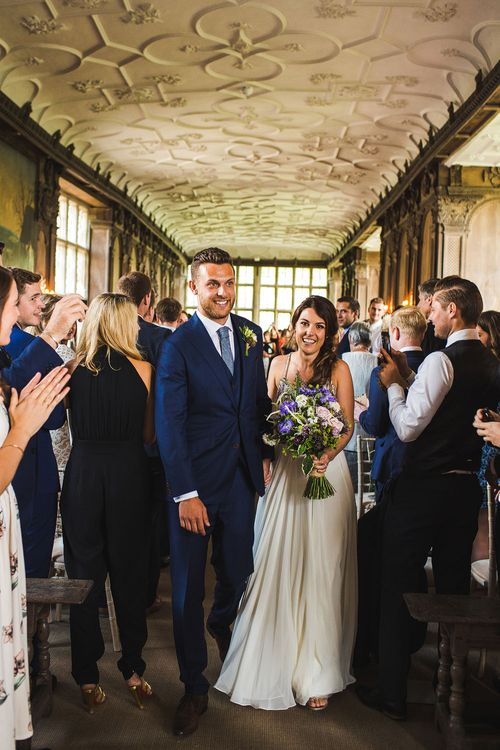 Just Married. A Bank Holiday Extravaganza. Ceremony at Haddon Hall, Derbyshire