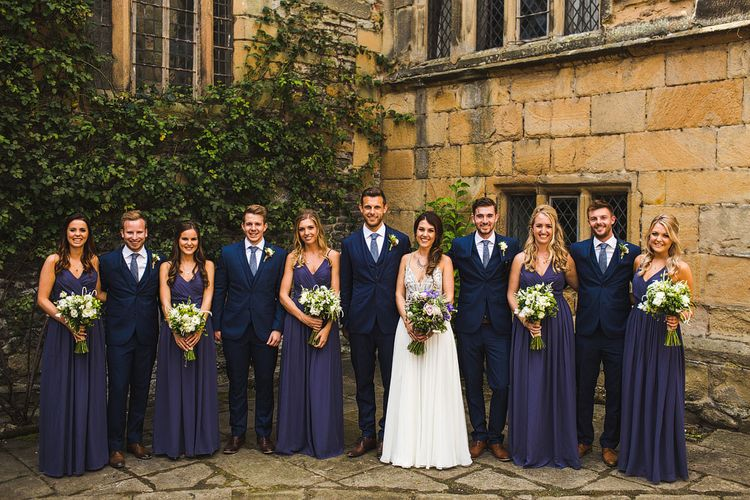 Bride and Bridesmaids. A Bank Holiday Extravaganza. Ceremony at Haddon Hall, Derbyshire