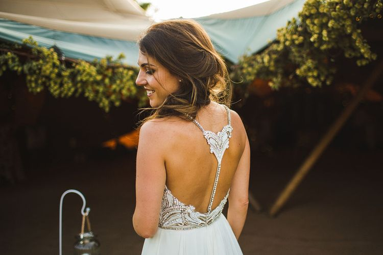 Hayley Paige Dress. Tipi by Peaktipis. A Bank Holiday Extravaganza. Reception at Shiningford Farm.