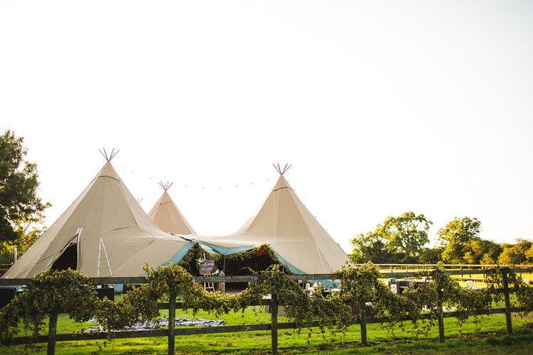 Tipi by Peaktipis. A Bank Holiday Extravaganza. Reception at Shiningford Farm.