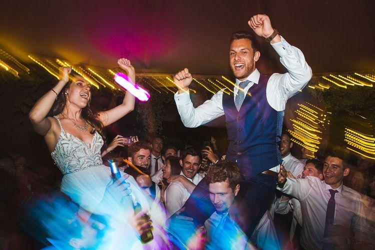 Dancing. Tipi by Peaktipis. A Bank Holiday Extravaganza. Reception at Shiningford Farm.