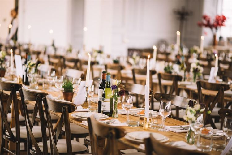 Rustic Wedding Long Table Meal by Humdingers Catering