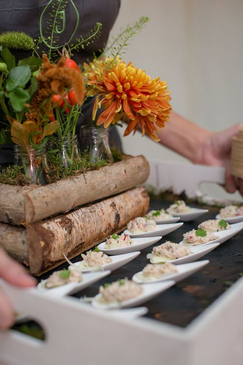Wedding Canapes Serving Ideas by Jacaranda Catering