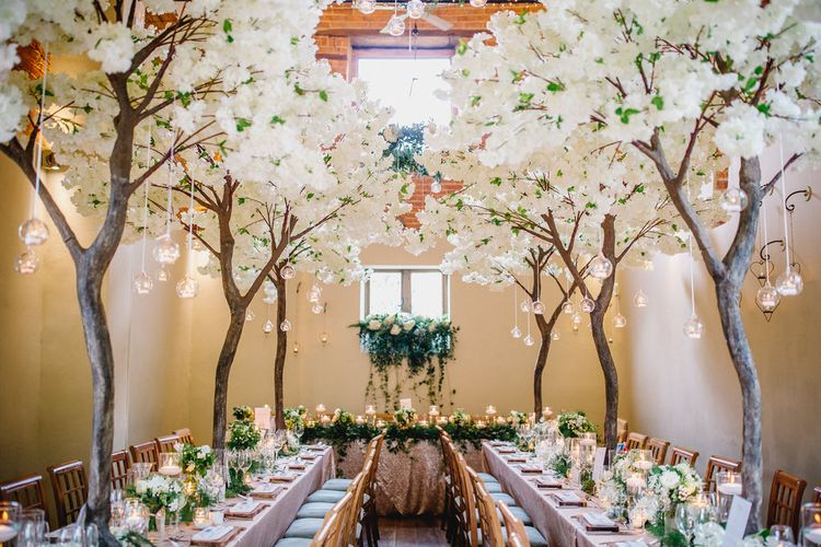 Cherry Blossom Wedding Decor with catering by Lemon Zest Cuisine