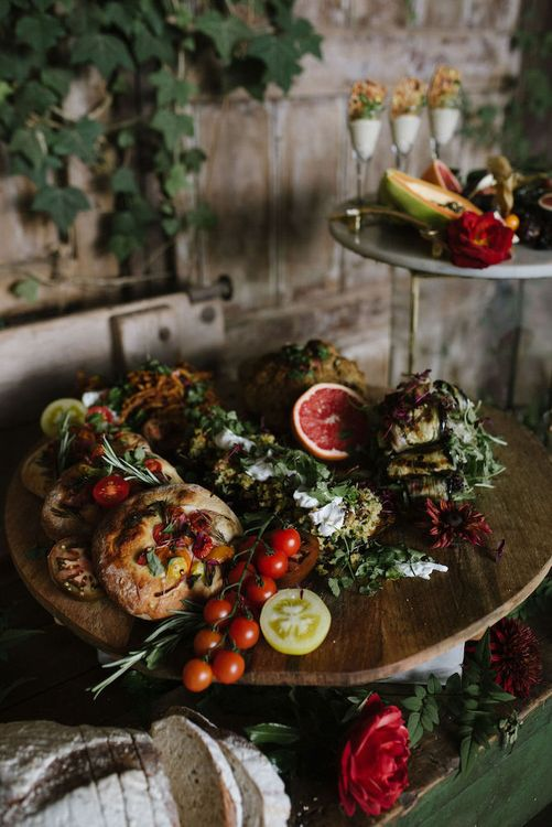 Rustic Grazing Table by Paisley Flour Catering