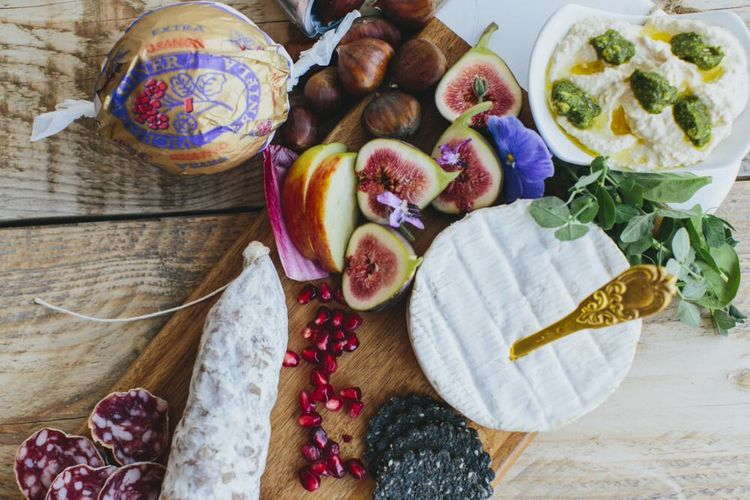 Wedding Cheese Wheel and Figs, Grazing Board, Grazing Table by Bear Claw Catering