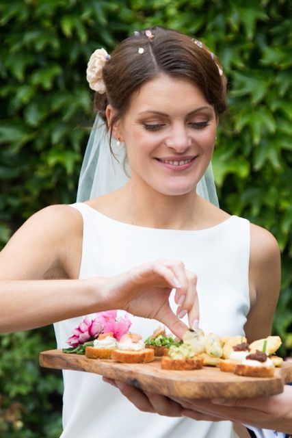 Wedding Canapes by Caroline Gent