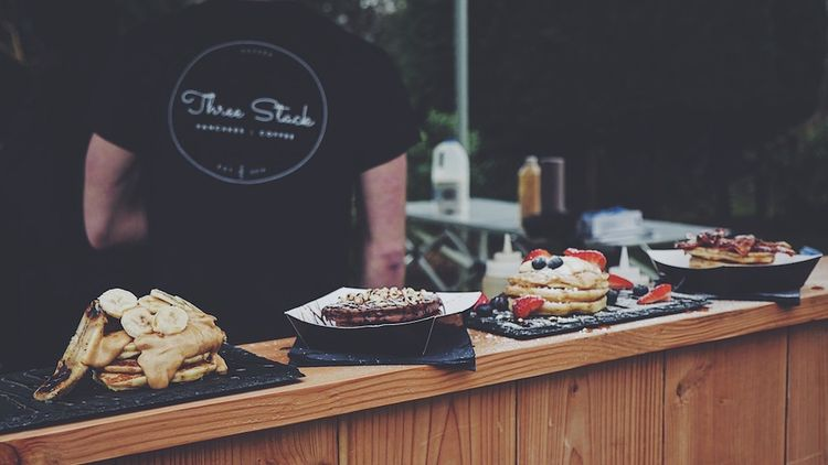Wedding Pancakes by Three Stack