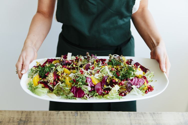 Wedding Grazing Table Salad by Bear Claw Catering Image by Sacco & Sacco Photography