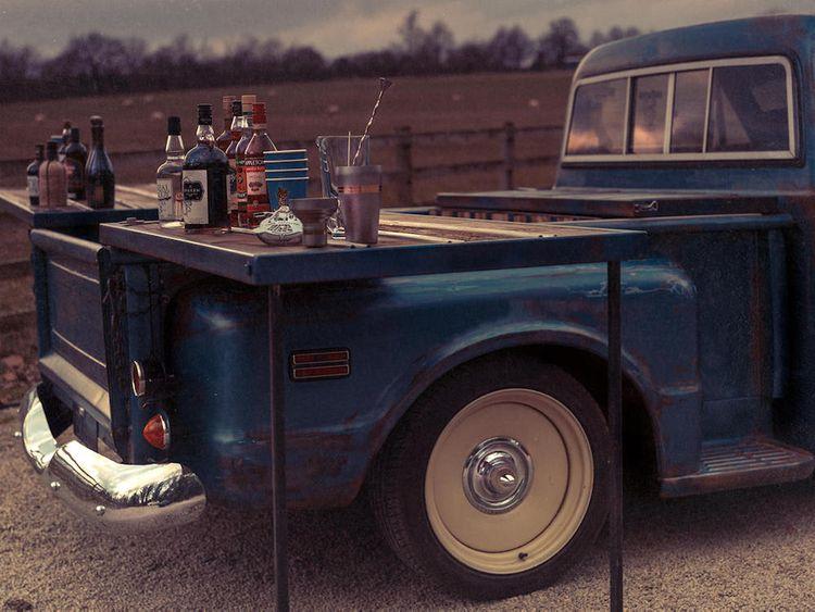 Wedding Pick Up Truck Bar by Bridgetown Monroe