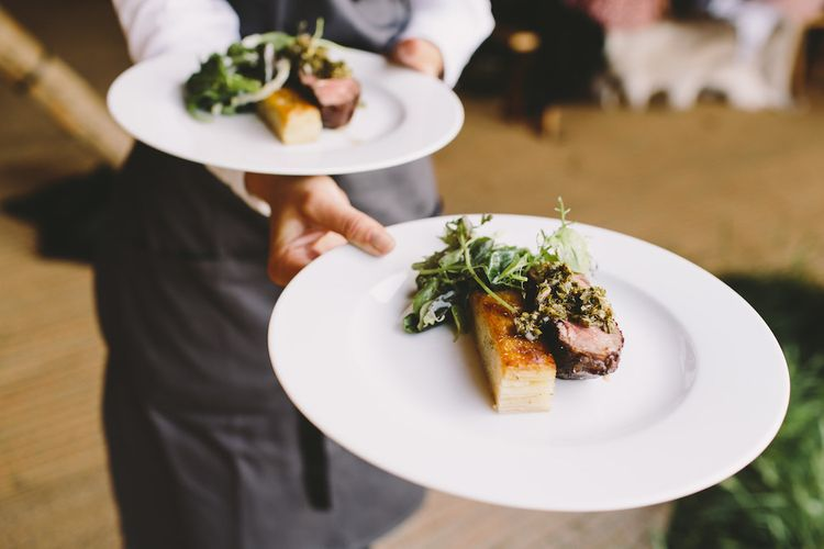 Wedding Breakfast by Pure Indulgence Catering Image by Sacco & Sacco Photography