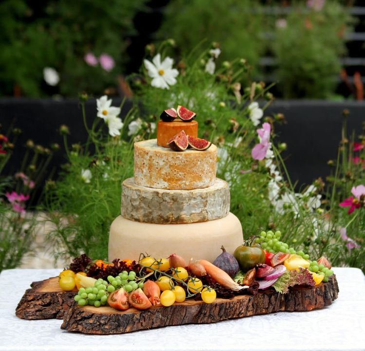 Wedding Cheese Wheel Tower by The Cheese Plate