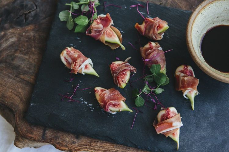 Fig and Prosciutto Canapes by Bear Claw Catering