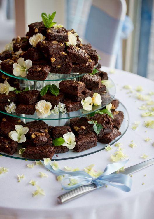Brownie Wedding Cake by Caroline Gent