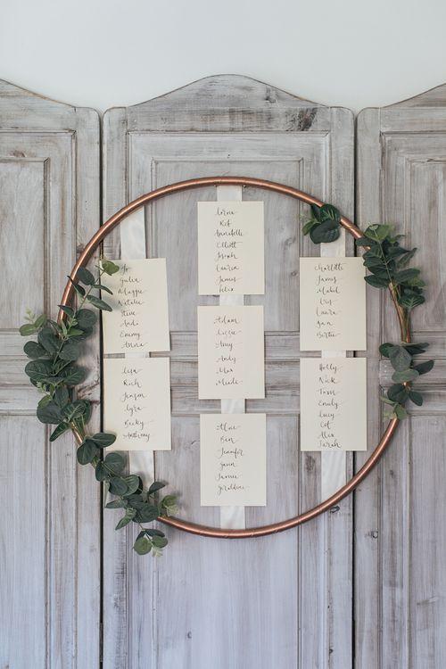 DIY Flower Hoop Wedding Table Plan