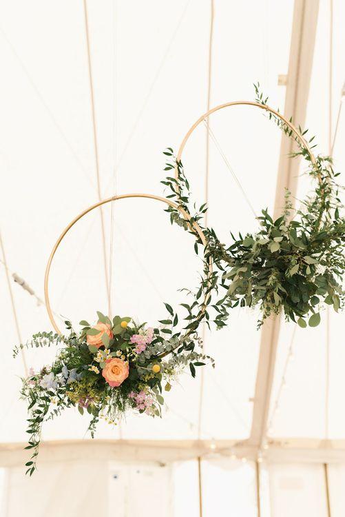 Peach Wedding Flower Hoop Image by Emma Pilkington