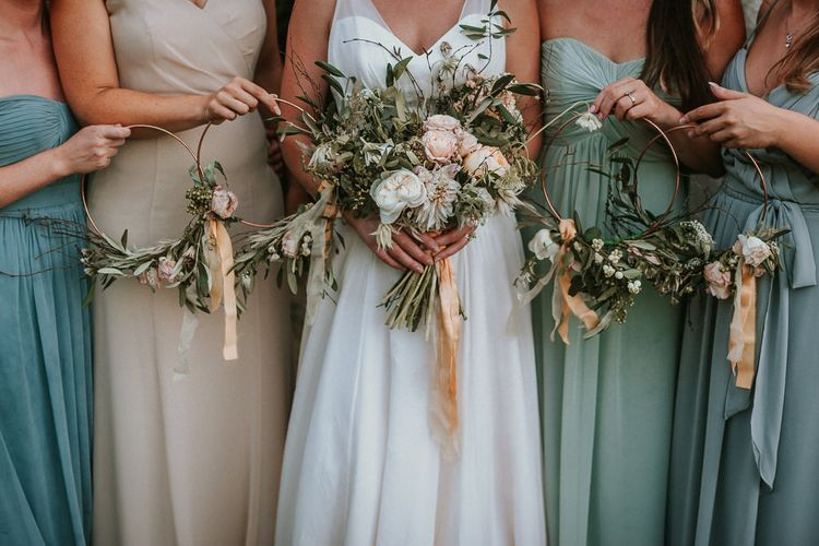 Bridesmaid Hoops Image by Alice Cunliffe Photography