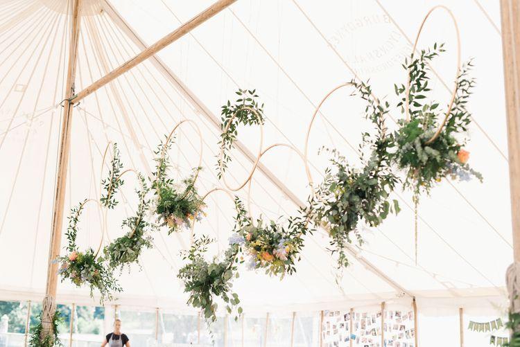 Wedding Hoop Flower Installation Image by Emma Pilkington