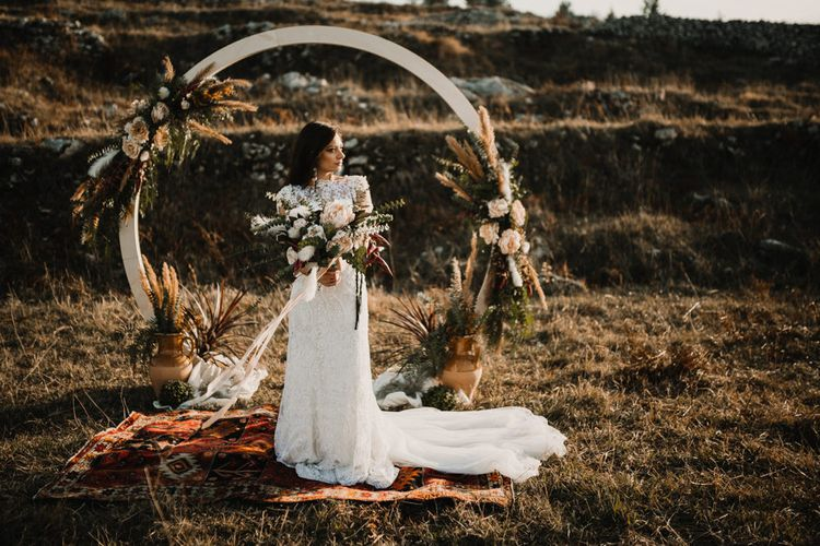 Floral Moon Gate Wedding Image by Federico Lanuto Photography