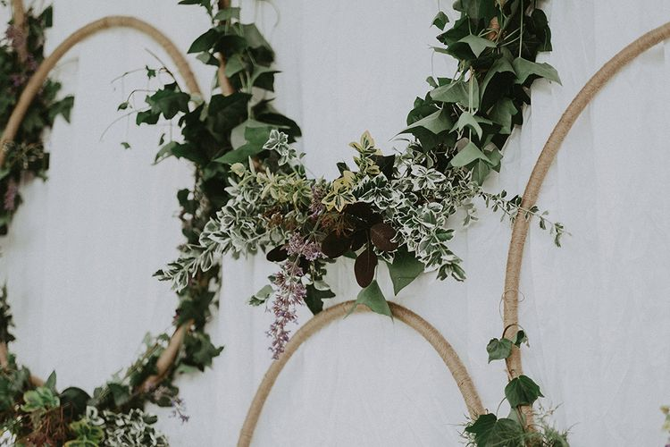 Wedding Hoop Decor by The Floral Boutique - Image by Jason Mark Harris
