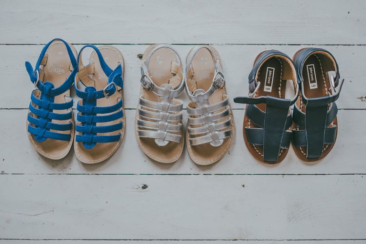 Sandals For Children For Beach Wedding // Image By Ross Talling Photography