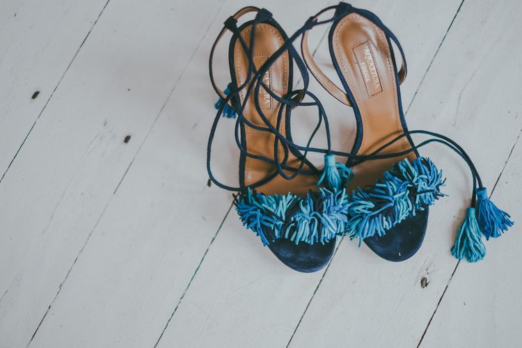 Something Blue Wedding Shoes // Image By Ross Talling Photography