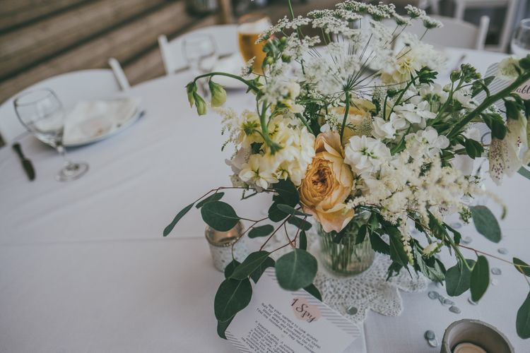 Peach & Cream Wedding Flowers // Image By Ross Talling Photography
