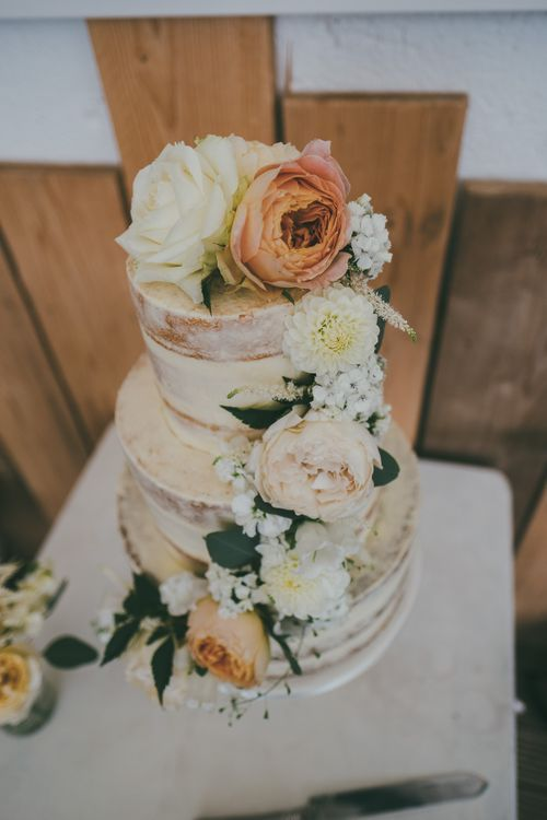 Semi Naked Wedding Cake // Image By Ross Talling Photography
