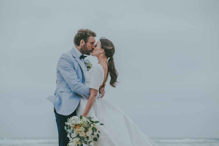 Bride With Ponytail // Image By Ross Talling Photography